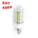 220V E27 6W 2850K  Clear LED Corn Bulb