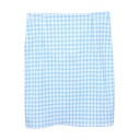 Sky Blue&White Gingham Bodycon Skirt