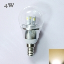 4W 85-265V E14 Mini LED Ball Bulb  in Silver Fiinish