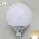 Warm White Chrome E27 9W  LED Globe Bulb