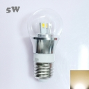 5W 85-265V E27 Mini LED Ball Bulb  in Silver Fiinish