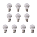 10Pcs 50*90mm E27 3W 220V Cool White Light LED Bulb