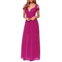 Greece Style Plain Chiffon Ruched Floor Length Dress