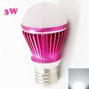 LED Bulb Rose Red 300lm E27 3W  Cool White Light