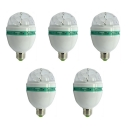 5Pcs RGB Colorful 220V E27 3W Mini LED Ball Bulb