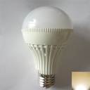 White PC 180° E27 12W 3000K LED Ball Bulb