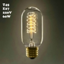 Vintage 60W T45 220V  E27 Edison Bulb 45*112mm