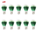 10Pcs Green 300lm E27 5W  Warm White Light Globe Bulb