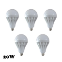 LED Globe Bulb 5Pcs Cool White 30W  E27 350lm 5730SMD