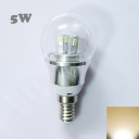 5W 85-265V E14 Silver Fiinished Mini LED Ball Bulb
