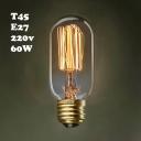Yellow Edison Bulb T45 220V  E27 60W