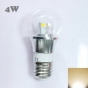 Silver Fiinish 4W 85-265V E27 Mini LED Ball Bulb