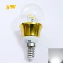 6000K E14 3W 85-265V Mini LED Ball Bulb  in Gold Fiinish