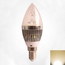5W Silver 180° Warm White E14 LED Candle Bulb