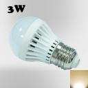 220V 180°SMD2835 PC Warm White  E27 3W LED Globe Bulb