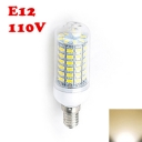 110V E12 6W 2850K  Clear LED Corn Bulb