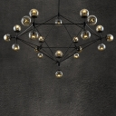 Contemporary Chandelier Globe 21-Light