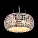 Brilliant Design Round Crystal Large Pendant Lights Embedded by Glittering Crystal Beads