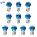 10Pcs Sky Blue 300lm E27 5W  Warm White Light