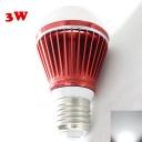 E27 3W Cool White Light Red 300lm LED Globe Bulb