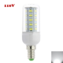 Cool White Light E12 4W 110V  Clear LED Corn Bulb