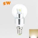 9Leds E14 LED Globe Bulb 3W Warm White