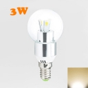 3Leds E14 LED Globe Bulb 3W Warm White