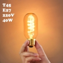 45*112mm T45 220V  E27 40W Edison Bulb