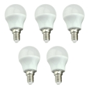 5 Pcs LED Globe Bulbs E14 3W Cool White Light