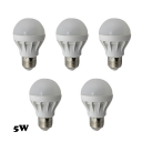 5Pcs E27 5W 350lm 5730SMD LED Globe Bulb