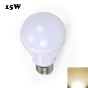 15W E27 Warm White Light LED Globe Bulb