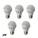 120° 5Pcs E27 5W 350lm 5730SMD LED Globe Bulb