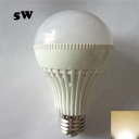 E27 220V 5W 180° Warm White Lighted LED Globe Bulb