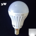 3W 27Leds 180° E14  Cool White Light Globe Bulb