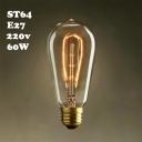 64*148mm 40W ST64 220V  E27  Edison Bulb