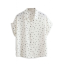 Little Star Print Short Sleeve Chiffon Shirt