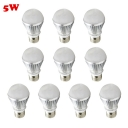 10Pcs LED Bulb Cool White Light Silver 300lm E27 5W