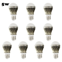 10Pcs Brown 300lm E27 5W  Warm White Light