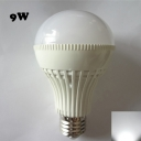 LED Ball Bulb 6000K 180° E27 9W  in White Plastic