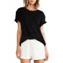 Black 97 Print Round Neck Short Sleeve T-Shirt