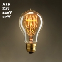 A19 220V  E27 40W Edison Bulb