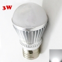 Cool White Light Silver 300lm E27 3W LED Bulb