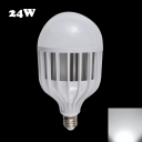120° 72Leds E27 24W 6000K LED Globe Bulb PC Material