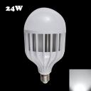 120° 72Leds E27 24W 6000K LED Globe Bulb PC Material