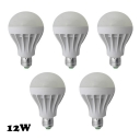5730SMD Cool White 12W 5Pcs E27 350lm  LED Globe Bulb