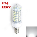5730SMD 6500K 220V E14 6W Clear LED Corn Bulb