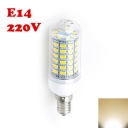 56Leds 2850K 220V E14 6W Clear LED Corn Bulb