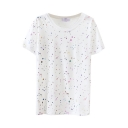 White Colorful Graffiti Print T-Shirt
