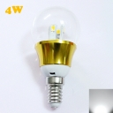 6000K 4W 85-265V E14 Mini LED Ball Bulb  in Gold Fiinish