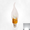Golden 360°  Cool White LED E14 Candle Bulb 3W